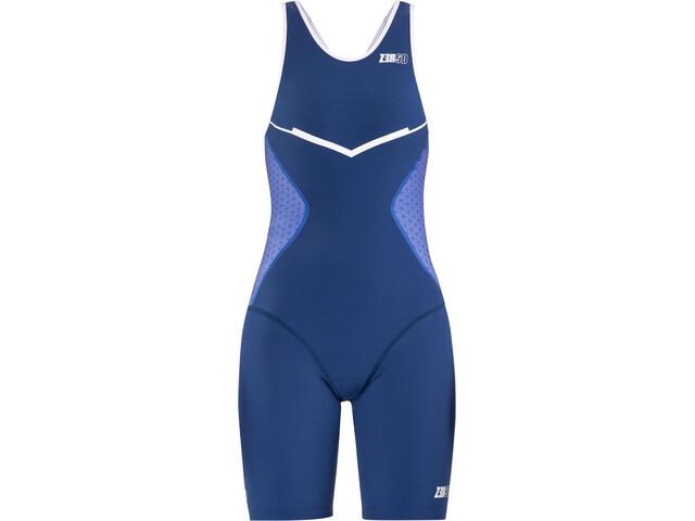 Z3R0D Racer Combinaison de triathlon Femme, dark blue/white